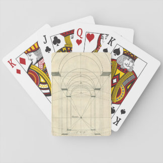 Vintage Architecture, Renaissance Arch Perspective Playing Cards