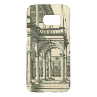 Vintage Architecture, Roman Courtyard with Columns Samsung Galaxy S7 Case