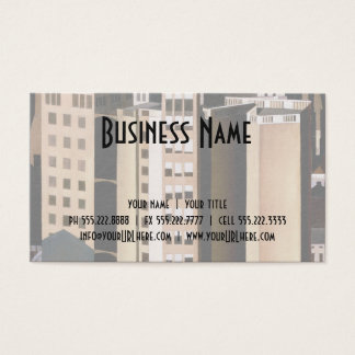 Vintage Architecture, Skyscraper by Sheeler, 1922 Business Card
