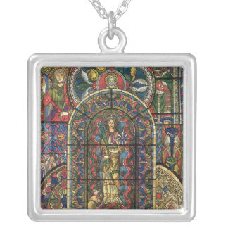 Vintage Architecture, Stained Glass Church Window Necklaces