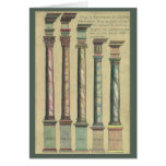 Vintage Architecture, the 5 Architectural Orders Greeting Card