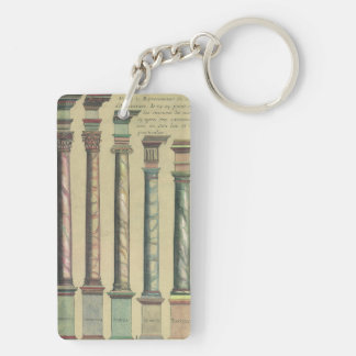 Vintage Architecture, the 5 Architectural Orders Keychain