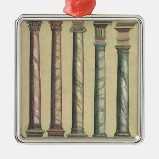 Vintage Architecture, the 5 Architectural Orders Metal Ornament