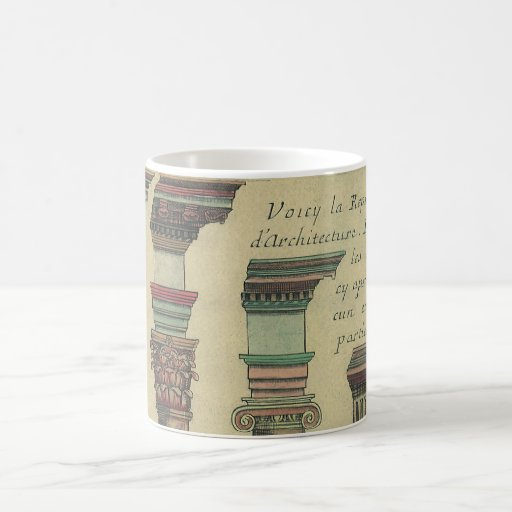 Vintage Architecture, the 5 Architectural Orders Mug