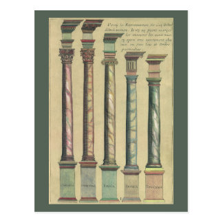 Vintage Architecture, the 5 Architectural Orders Postcard