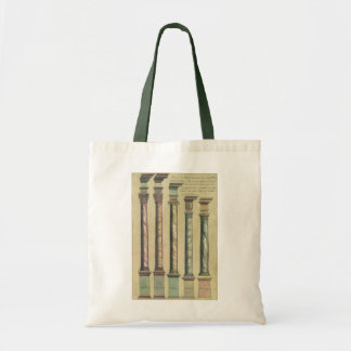 Vintage Architecture, the 5 Architectural Orders Tote Bag