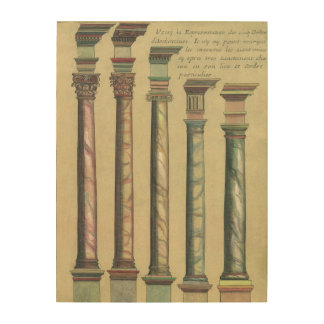 Vintage Architecture, the 5 Architectural Orders Wood Wall Decor