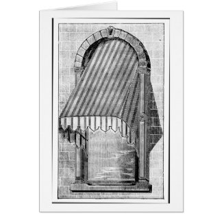 Vintage Architecture Window & Awning Card