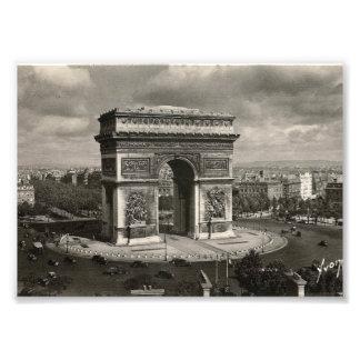 Vintage Arco del Triunfo 1943 de París Cojinete