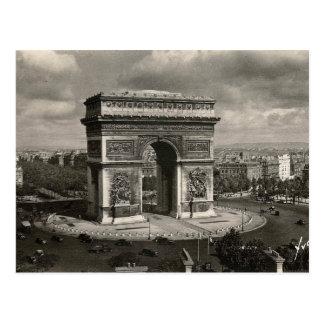 Vintage Arco del Triunfo 1943 de París Tarjetas Postales