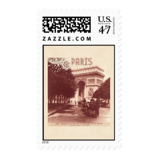 Vintage Arco del Triunfo, París, 1903 Estampillas