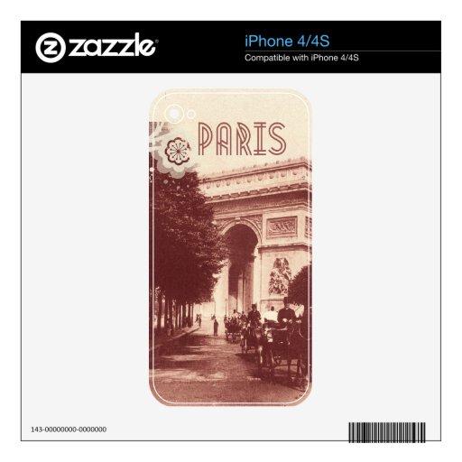 Vintage Arco del Triunfo, París, 1903 Calcomanías Para iPhone 4S
