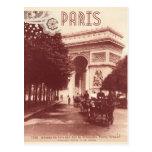 Vintage Arco del Triunfo, París, 1903 Postal
