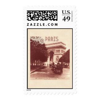 Vintage Arco del Triunfo, París, 1903 Franqueo