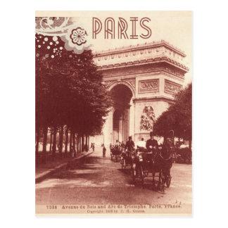 Vintage Arco del Triunfo, París, 1903 Tarjeta Postal