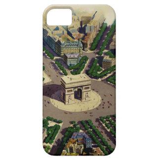 Vintage Arco del Triunfo París Funda Para iPhone 5 Barely There