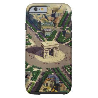 Vintage Arco del Triunfo París Funda Para iPhone 6 Tough