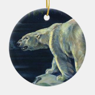 Vintage Arctic Polar Bear, Marine Life Animals Ceramic Ornament