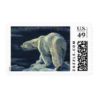 Vintage Arctic Polar Bear, Marine Life Animals Postage