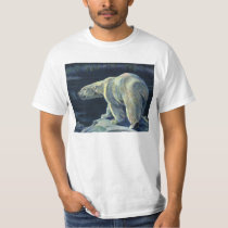 Vintage Arctic Polar Bear, Marine Life Animals T-Shirt