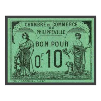 Vintage Argelia Chambre de Commerce, Philippeville Postal