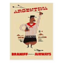 Vintage Argentina Airline Travel Postcard