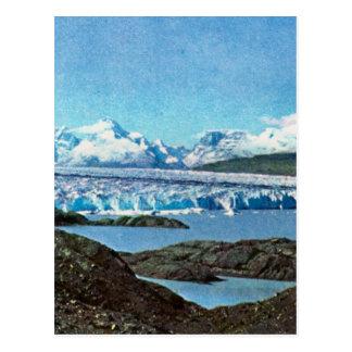 Vintage Argentina, Argentina, End of the glacier, Postcard