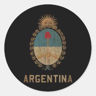 Vintage Argentina Classic Round Sticker