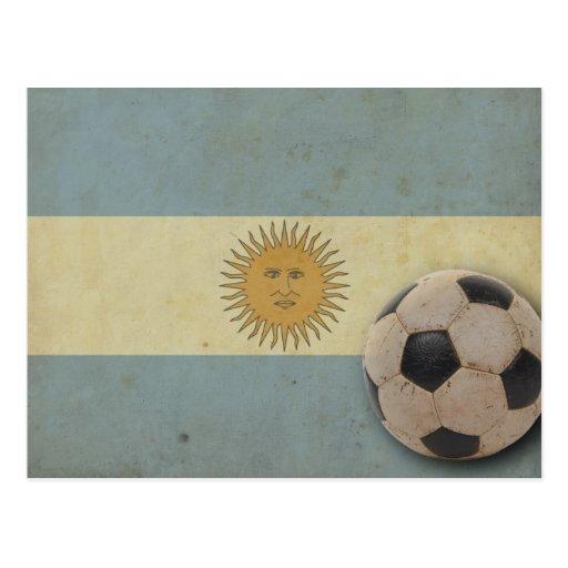 Vintage Argentina Flag Postcard