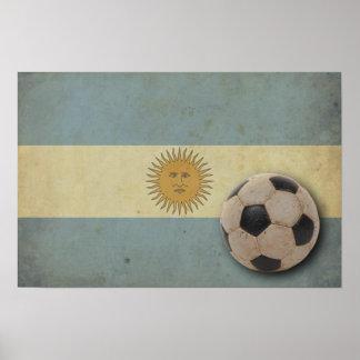 Vintage Argentina Flag Poster