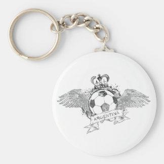 Vintage Argentina Football Keychain