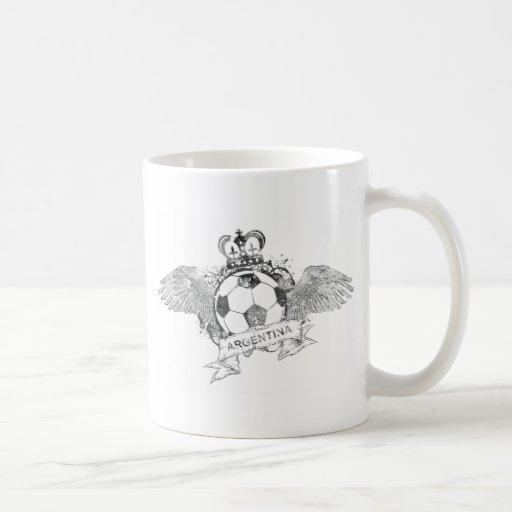 Vintage Argentina Football Classic White Coffee Mug