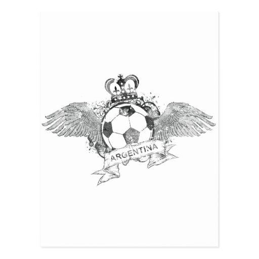 Vintage Argentina Football Postcard