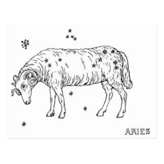 Vintage Aries Postcard