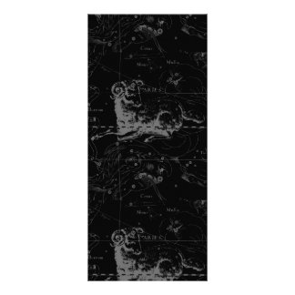 Vintage Aries Sign Constellation Hevelius 1690 Rack Card