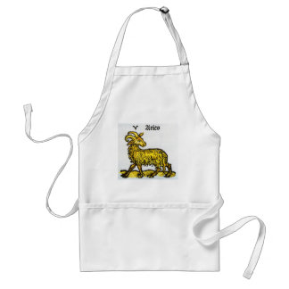 Vintage Aries the Ram, Antique Signs of the Zodiac Adult Apron
