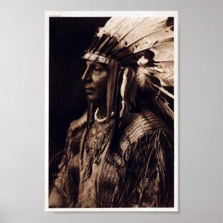Vintage Arikara Chief White Shield Poster