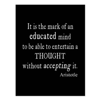 Vintage Aristotle Educated Mind Thought Quote Post Cards