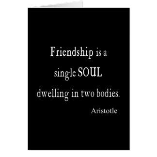 Vintage Aristotle Friendship Single Soul Quote Stationery Note Card