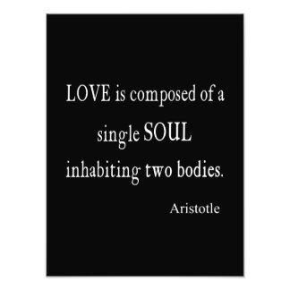 Vintage Aristotle Love Single Soul Quote Photo