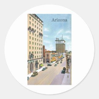 Vintage Arizona Classic Round Sticker