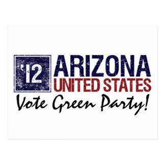 Vintage Arizona del Partido Verde del voto en 2012 Tarjeta Postal