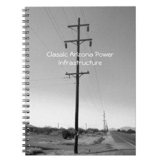 Vintage Arizona eléctrico Libros De Apuntes