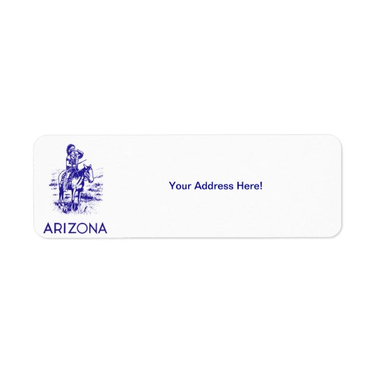 Vintage Arizona Etiquetas De Remite