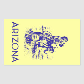 Vintage Arizona Pegatina Rectangular