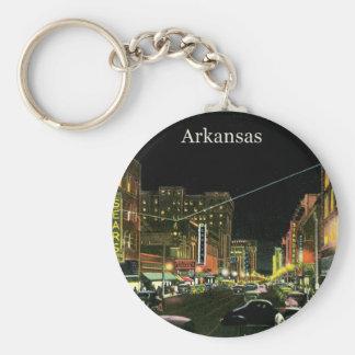 Vintage Arkansas Basic Round Button Keychain