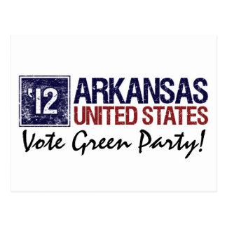 Vintage Arkansas del Partido Verde del voto en 201 Postales