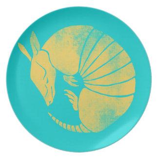 Vintage Armadillo Melamine Plate