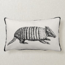 Vintage Armadillo Pillow - Pick Your Color
