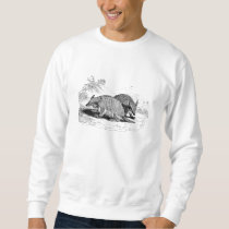 Vintage Armadillo Retro Armadillos Illustration Sweatshirt